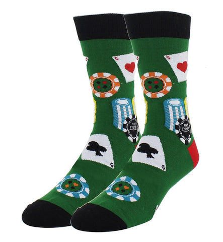 Novelty Crazy Crew Funny Shark Poker Dress Socks - casinomegastore