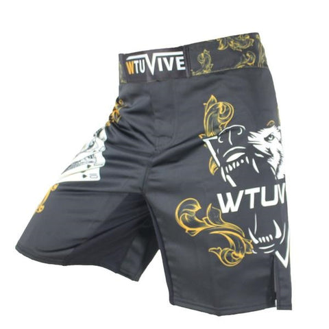 SURFS UP! Men's Yellow Poker Royal Flush Tiger Boxing Fitness Swimming Surf Shorts - casinomegastore