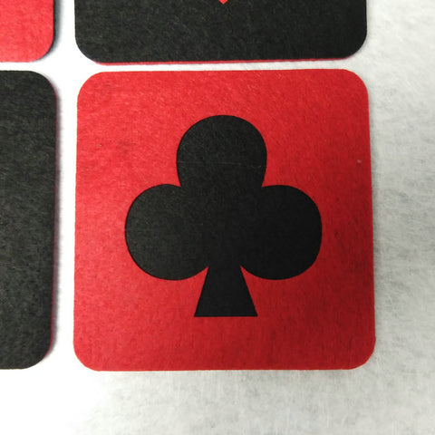 8pcs Poker Suits Casino Party Square Tea Coaster Decoration - casinomegastore