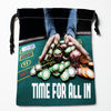 Image of BEST! Poker Drawstring Bags Custom Storage Printed Bag for Books Papers Toiletries More - casinomegastore