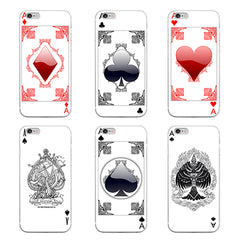 Creative Poker Card Pattern Phone Case Cover for Samsung Galaxy Note 4 5 S4 S5 S6 S7 Edge Plus