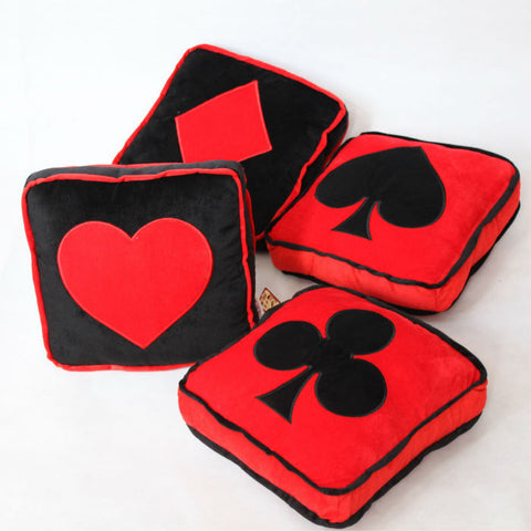 Creative Poker Symbols Plush Cushion Sofa Decoration Pillow - casinomegastore