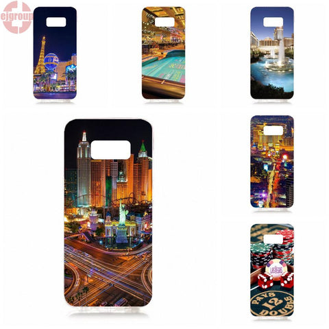 Casinos In Las Vegas And Atlantic City Silicon Case For Samsung Galaxy S8, 5.8 inch G950 G950F SM-G9500 - casinomegastore