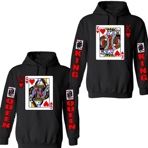 Stylish 3D Casino Card Sweatshirt Poker Novelty Sweatshirt Hoodie - casinomegastore
