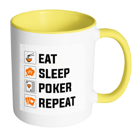GREAT Quality! Accent Poker Mug, Perfect Gift for Your Poker Friends! - casinomegastore