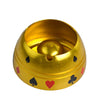Image of NEW! Gold Silver Metal Poker Suited Table Ashtray - casinomegastore