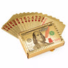 Image of PERFECT GIFT! Gold Plated Playing Cards in Wooden Box With Certification for High Class Games - casinomegastore