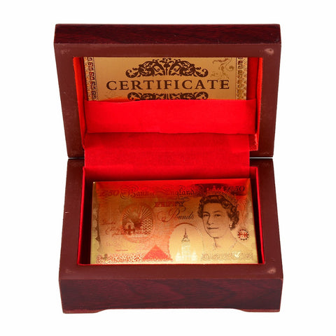 PERFECT GIFT! Gold Plated Playing Cards in Wooden Box With Certification for High Class Games
