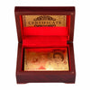 Image of PERFECT GIFT! Gold Plated Playing Cards in Wooden Box With Certification for High Class Games