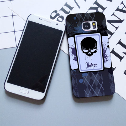 Skull Poker Design Plastic Case For Samsung Galaxy s3 s4 s5 s6 s7 edge Phone Cover For iPhone 5s 5 5c SE 6 6s 7 plus 4 4s - casinomegastore