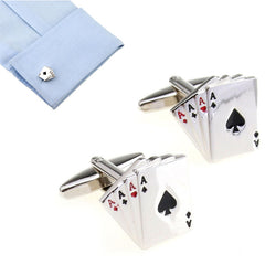 High Quality Poker Shaped Cufflinks Men's Jewelry for Shirts - casinomegastore