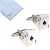 Image of High Quality Poker Shaped Cufflinks Men's Jewelry for Shirts - casinomegastore