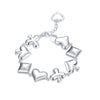 Image of HOT Fashion Jewellery! Poker Pattern 925 Sterling Silver Unisex Bracelet - casinomegastore