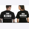 Image of KING QUEEN Novelty Printed Couples T-Shirt Men Women & Partners in Casino Gaming - casinomegastore