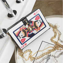2017 Chic Fashion Personalized Poker Lady's Party Clutch Bag Purse