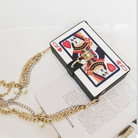 2017 Chic Fashion Personalized Poker Lady's Party Clutch Bag Purse - casinomegastore