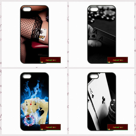 Luxury Poker Casino Case For iPhone 7 4 4s 5 5s SE 5c 6 6 Plus Mobile Phone Cover - casinomegastore