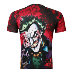 New Joker Poker 3D Print T Shirt Men Fashion