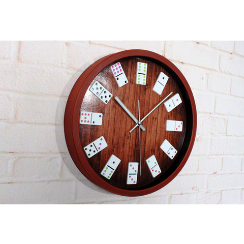 Unique Item! Hanging Wall Casino Domino Clock - casinomegastore