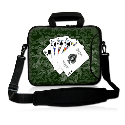 "Poker 15"" Laptop/Tablet Shoulder Bag Notebook Handbag 15"" 15.4"" 15.6'' Macbook HP Asus Acer - casinomegastore"
