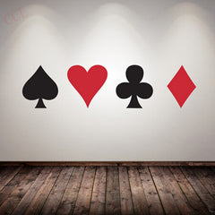 Poker Pro Spade Club Heart Diamond Wall Sticker - casinomegastore