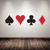 Image of Poker Pro Spade Club Heart Diamond Wall Sticker - casinomegastore