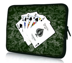 "Poker Themed 10"" Soft Sleeve Case Bag Cover Pouch Laptop/Tablet - casinomegastore"