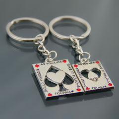 LOVERS! Keychain for Couples and Lovers  His and Hers Casino Style