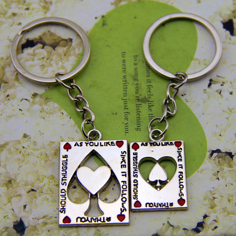 LOVERS! Keychain for Couples and Lovers  His and Hers Casino Style - casinomegastore