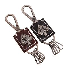COOL! Casino Heart Skeleton Leather Cool Charms Skull Keychain