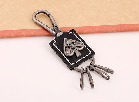 COOL! Casino Heart Skeleton Leather Cool Charms Skull Keychain - casinomegastore
