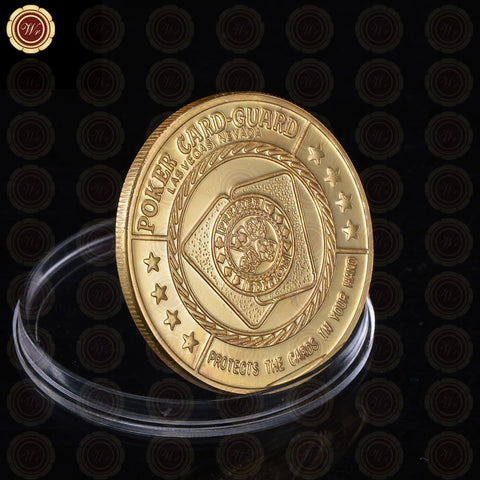 Pokerholic Black & Gold Design Casino Souvenir Coin - casinomegastore