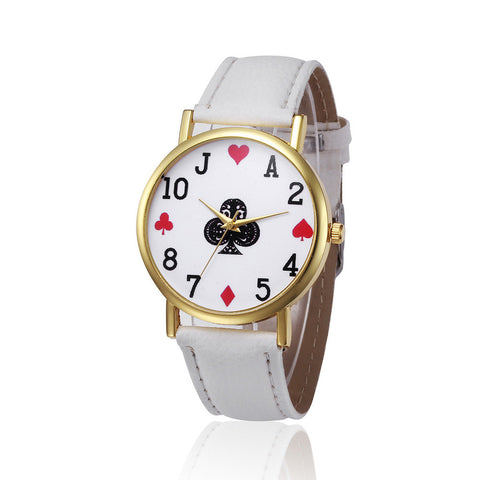 Retro Design Leather Band Analog Quartz Women's Wrist Watch - casinomegastore