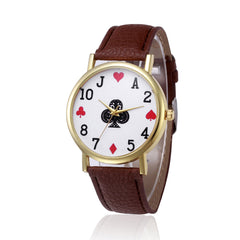 Retro Design Leather Band Analog Quartz Women's Wrist Watch