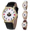 Image of Retro Design Leather Band Analog Quartz Women's Wrist Watch - casinomegastore