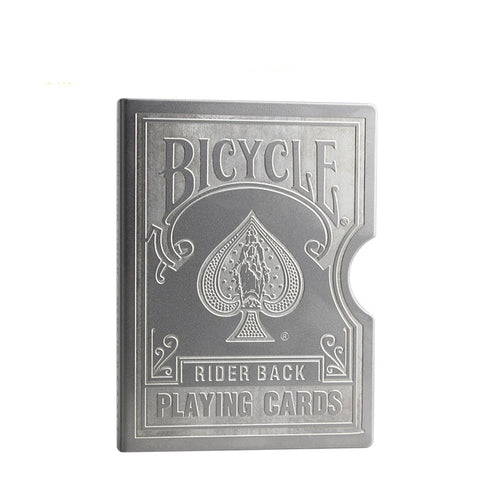Stainless Steel Engraved Bicycle Card Clip Playing Card Metal Holder - casinomegastore