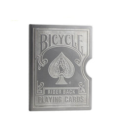 Stainless Steel Engraved Bicycle Card Clip Playing Card Metal Holder