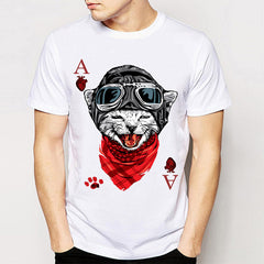 BEST SELLING! Printed Heart Ace Animal Casino Gaming T-Shirt