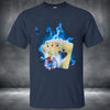 Image of Blue Fire! Quad Ace Men Short Sleeve Cotton T-Shirt USA size - casinomegastore