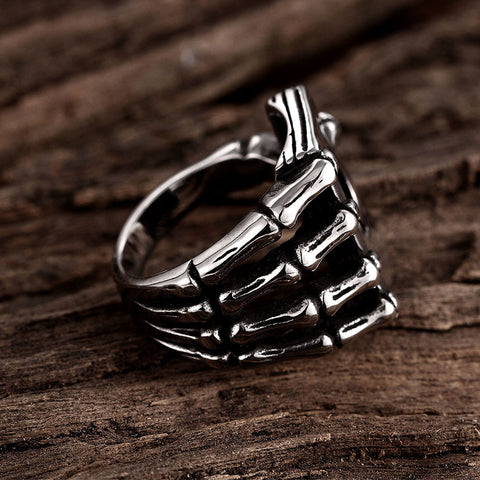 Tiger Totem Vintage Men Fashion  Jewelry Poker Titanium Ring - casinomegastore