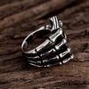 Image of Tiger Totem Vintage Men Fashion  Jewelry Poker Titanium Ring - casinomegastore