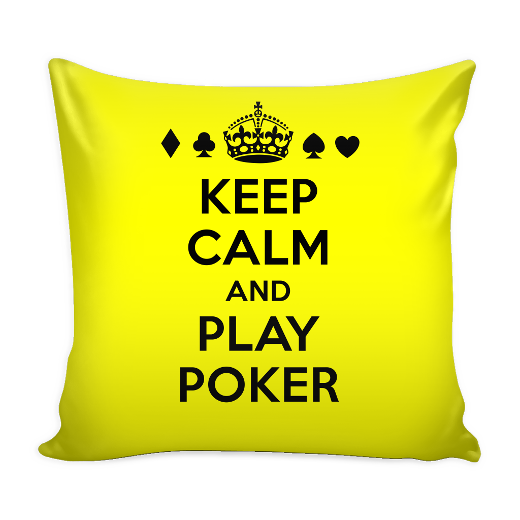 GREAT GIFT! Keep Calm, Play Poker Throw Pillow Cushion for Sofa Home ...