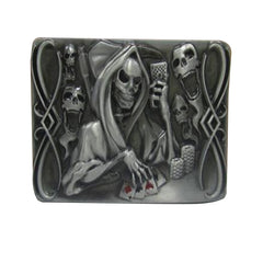 TOP Deal: Unisex Cowboy Skull Poker Belt Buckle - casinomegastore