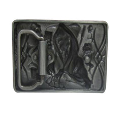 TOP Deal: Unisex Cowboy Skull Poker Belt Buckle