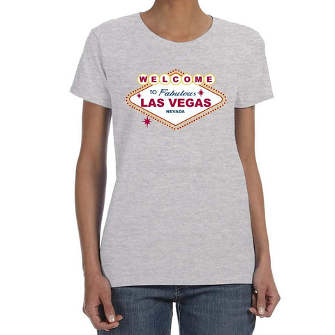 WELCOME TO LAS VEGAS  T-shirt Women's 100% Cotton Top - casinomegastore