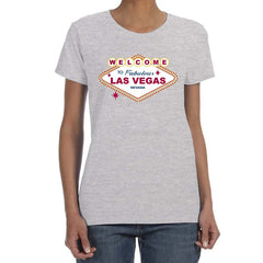 WELCOME TO LAS VEGAS  T-shirt Women's 100% Cotton Top