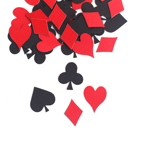 Decorate! Confetti Playing Card Suits for Poker Party Blackjack Party Casino Party Tables - casinomegastore