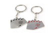 Image of Creative Poker Flush Metal Car Key Chain Charm Trinket Key Holder - casinomegastore