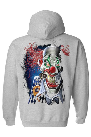 Unisex Zip Up Hoodie Mad Joker Clown - casinomegastore