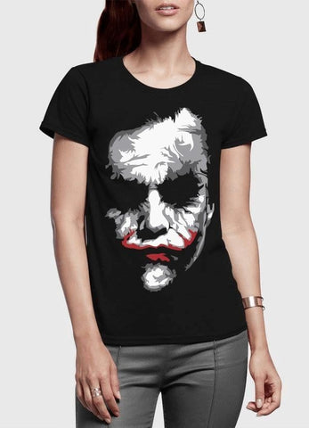 Heath Joker Half Sleeves Women T-shirt - casinomegastore
